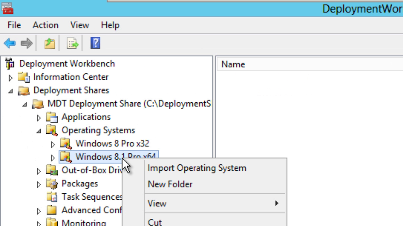 Importing Windows 8 1 in MDT 2013 and Creating a Task