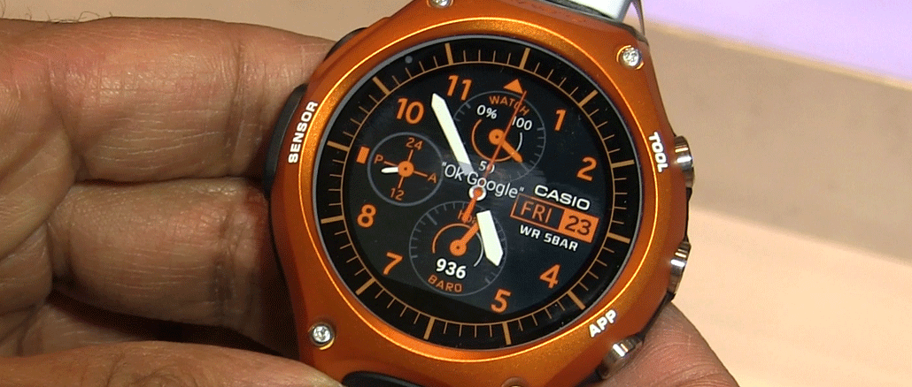 Casio's Smart Outdoor Watch with Android Wear [First Look ...
